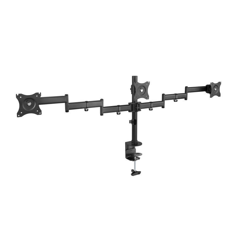 """TooQ DB1327TN-B suporte de mesa de ecrãs planos 68,6 cm (27"""") Clamp Preto"""